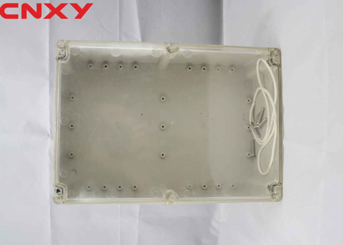 Dustproof IP65 screw open-close type plastic junction box clear waterproof enclosure 263*182*95 mm